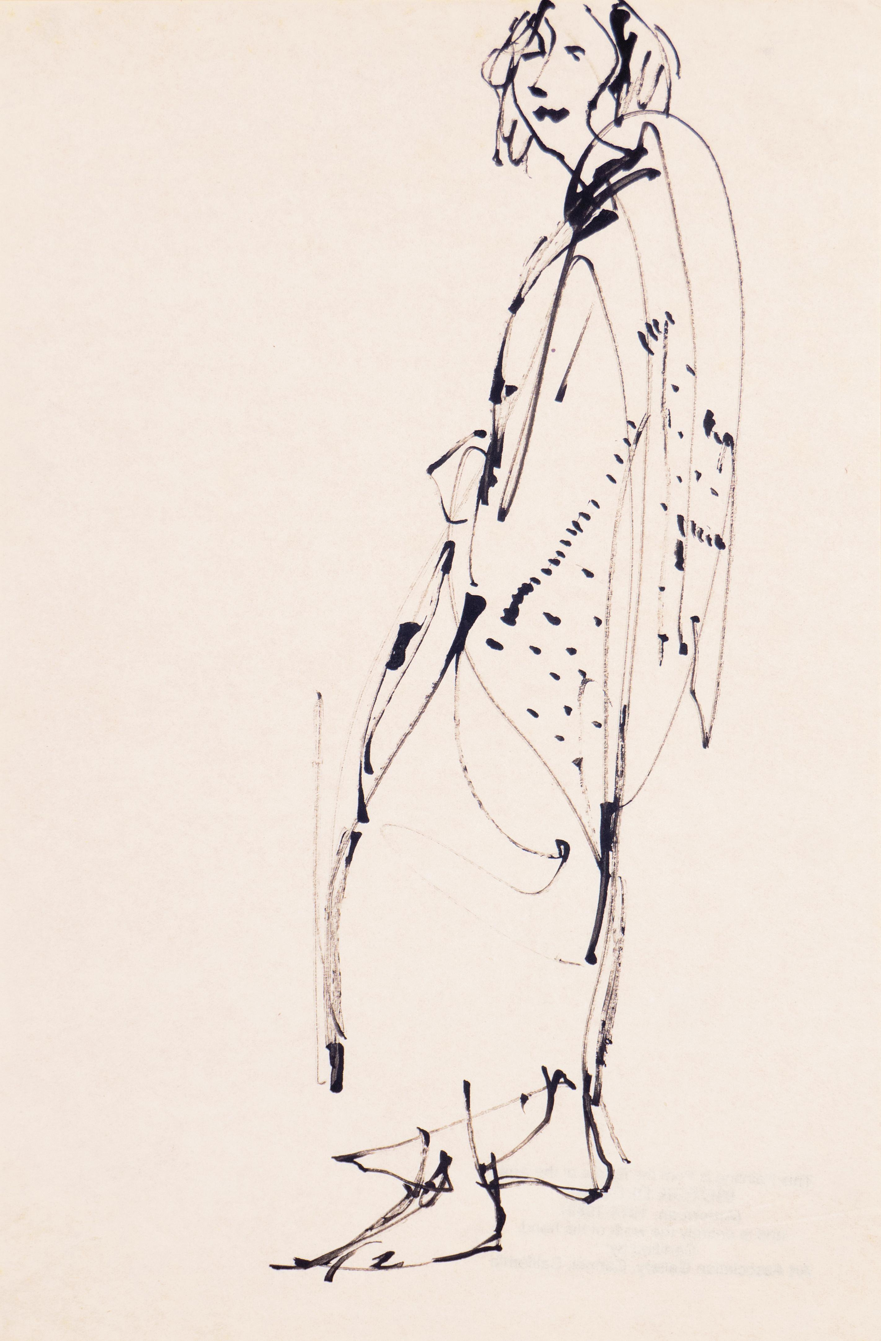 'Woman in a Kimono', Carmel, California, Louvre, Academie Chaumiere, SFAA, LACMA
