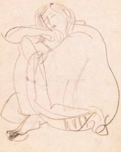 'Woman Seated', California, Paris, Louvre, Academie Chaumiere, SFAA, LACMA