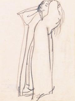 'Woman Standing', Carmel Artist, Louvre, Paris, Academie Chaumiere, SFAA, LACMA