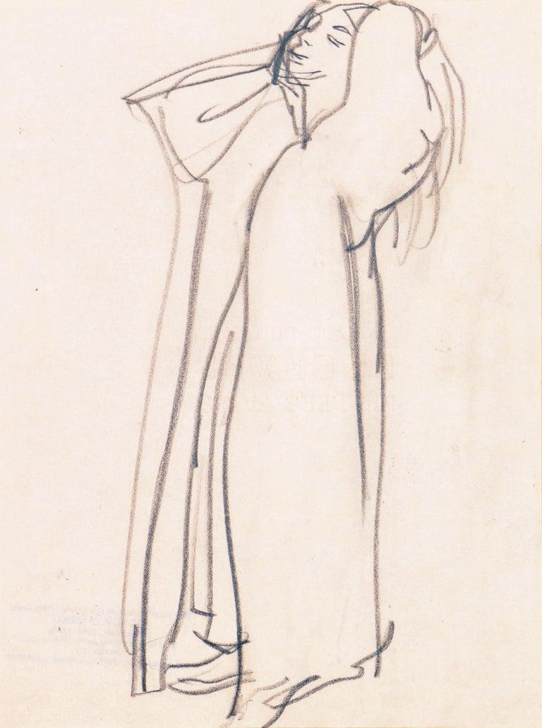 Victor Di Gesu Nude - 'Woman Standing', Carmel Artist, Louvre, Paris, Academie Chaumiere, SFAA, LACMA