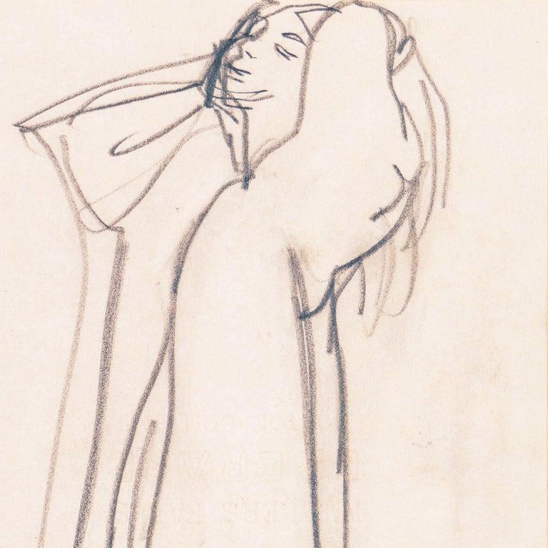 'Woman Standing', Carmel Artist, Louvre, Paris, Academie Chaumiere, SFAA, LACMA For Sale 1
