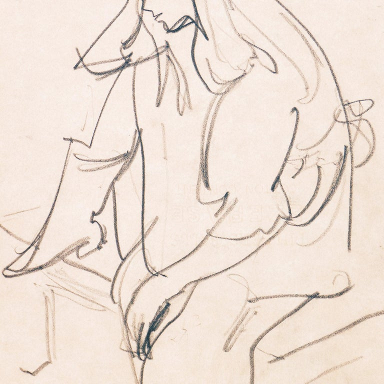 'Woman Seated', Carmel Artist, Louvre, Academie Chaumiere, Paris, SFAA, LACMA For Sale 2