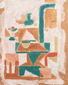 'Cubist Kitchen Interior', California, Louvre, Academie Chaumiere, SFAA, LACMA