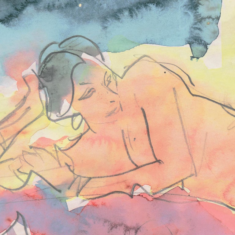 'Reclining Nude', Carmel, California, Louvre, Academie Chaumiere, SFAA, LACMA For Sale 4