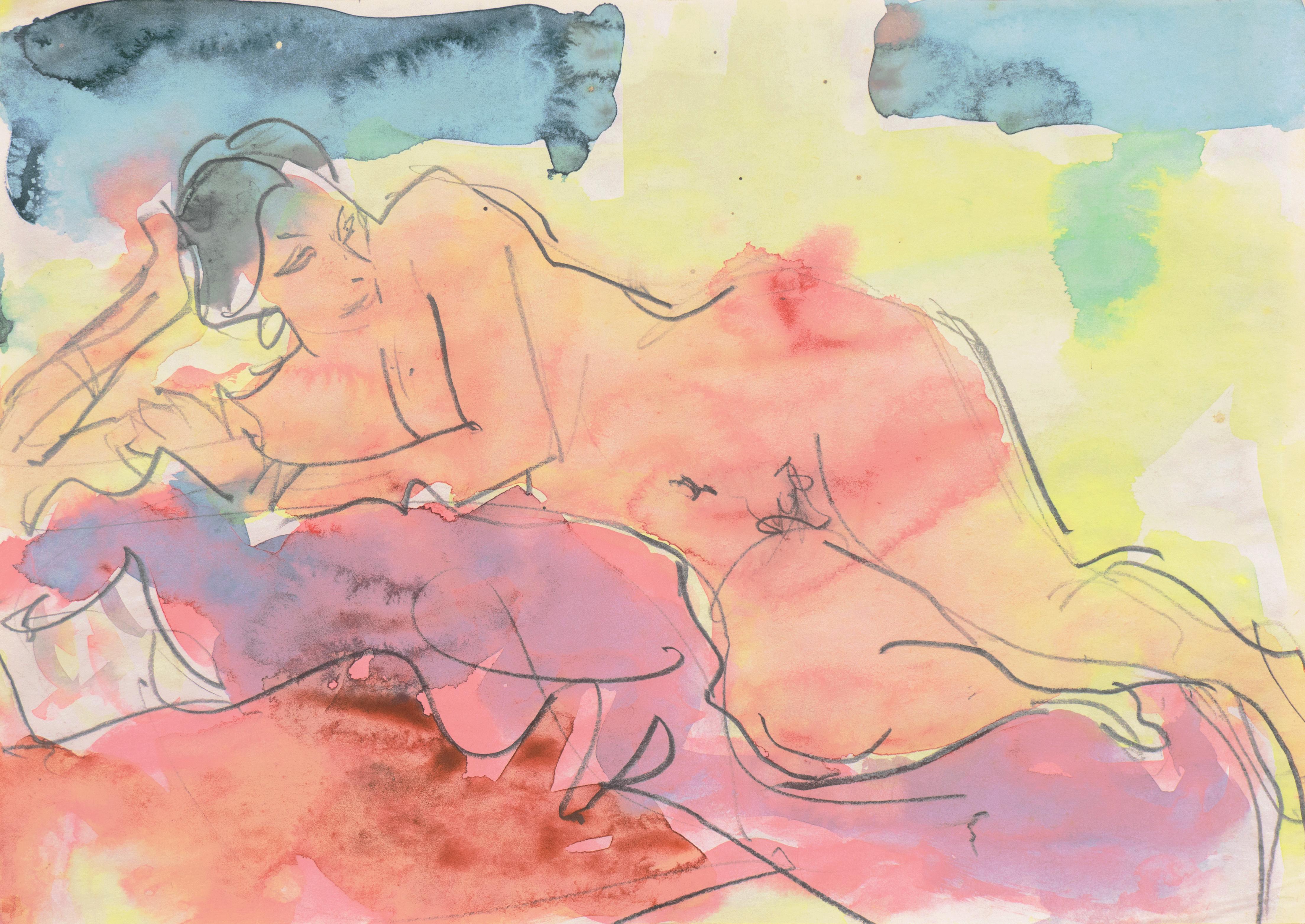 'Reclining Nude', Carmel, California, Louvre, Academie Chaumiere, SFAA, LACMA