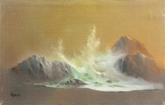 'Breaking Wave, California Coast', Tonalist Seascape