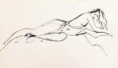 'Reclining Nude', California Modernist