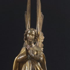 'Gilt Bronze Angel', 19th Century Gothic Revival, Large Angelic Form, Lost Wax