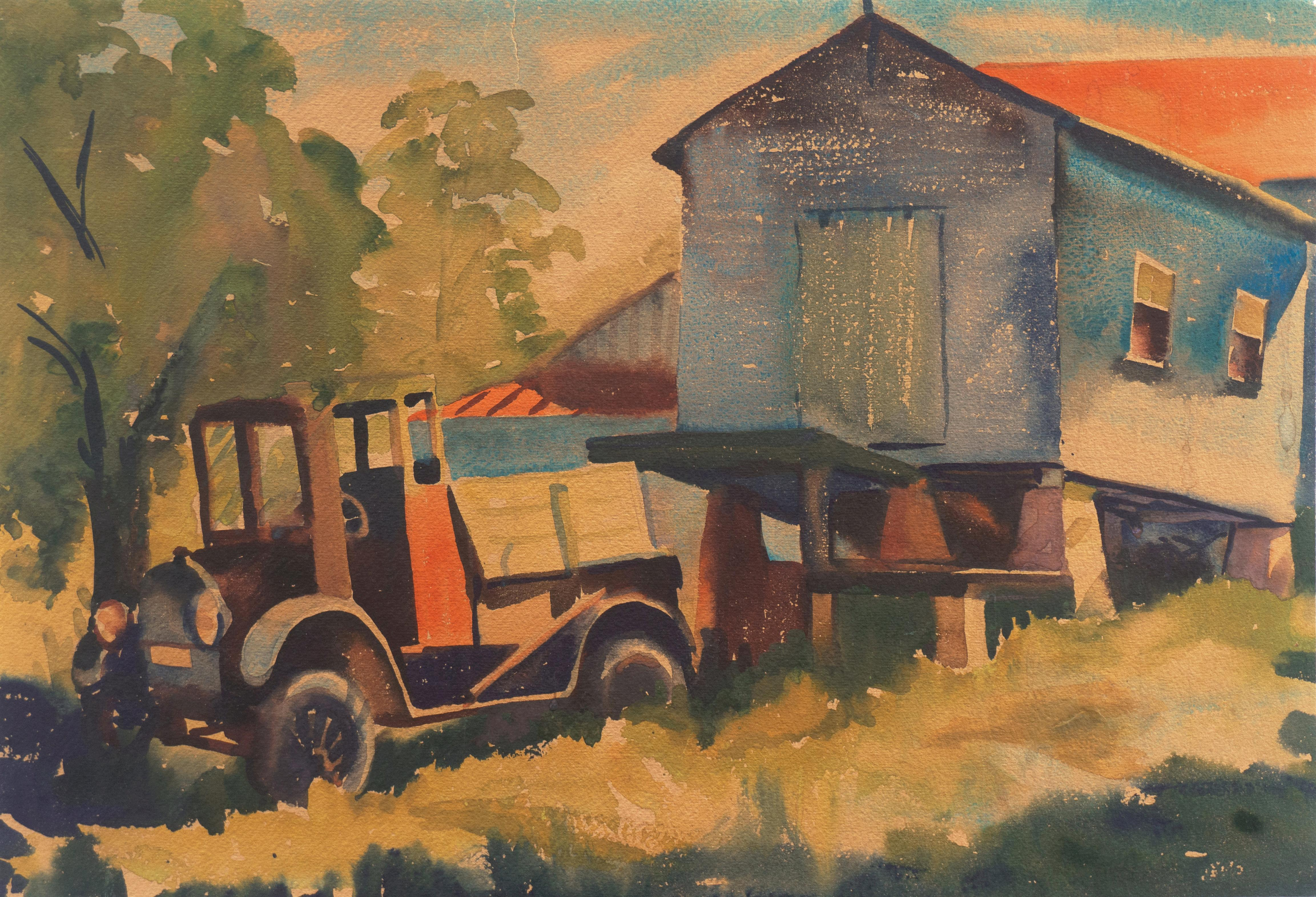 'Old Reliable', Early American Modernist, Jalopy, Model T Ford Flatbed Truck
