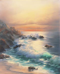 'California Evening, Golden Shore', Carmel, Long Beach, UCLA, Gallery Americana