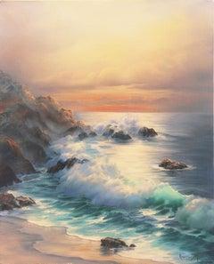 'California Evening, Golden Shore', Carmel, Long Beach, UCLA, Gallery Americana