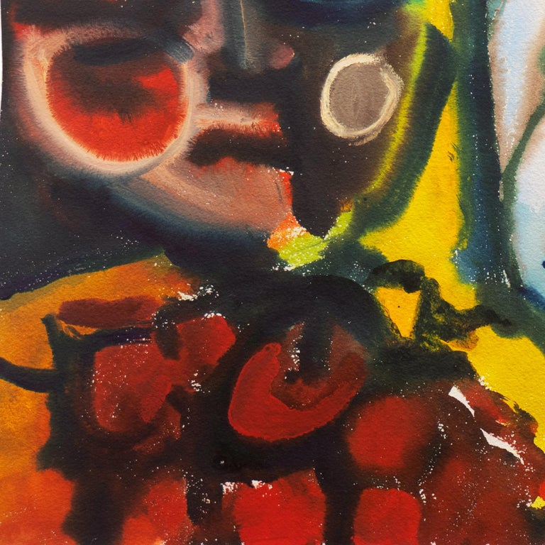 'Leaving the Garden of Eden', Mid-century American Expressionist, Adam and Eve For Sale 2