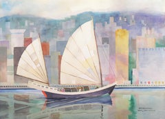 'Hong Kong from Victoria Harbor',  Society of Western Artists, Bohemian Club
