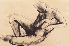 'Reclining Nude', Mid-century German Expressionist, Düsseldorf, Venice Biennale