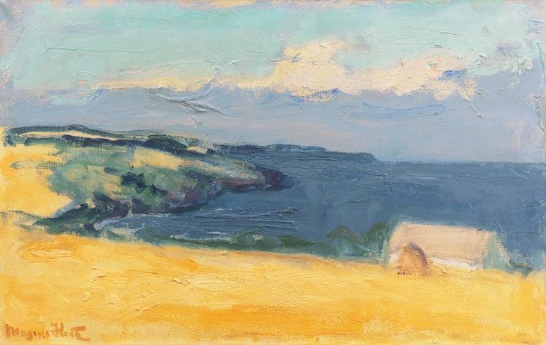 Mogens Hertz Landscape Painting - 'The Coast at Bornholm', Paris, Charlottenborg, Bornholm School, Benezit