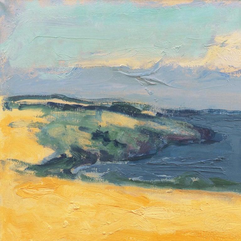 'The Coast at Bornholm', Paris, Charlottenborg, Bornholm School, Benezit - Beige Landscape Painting by Mogens Hertz