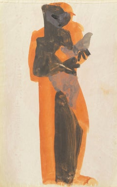 'Figure with Dove, Ochre and Gray', Louvre, Paris, California, SFAA, LACMA