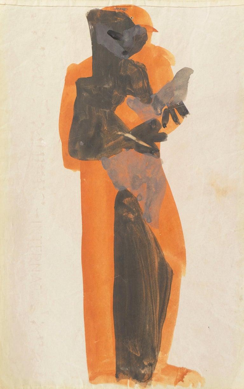 'Figure with Dove, Ochre and Gray', Louvre, Paris, California, SFAA, LACMA - Art by Victor Di Gesu