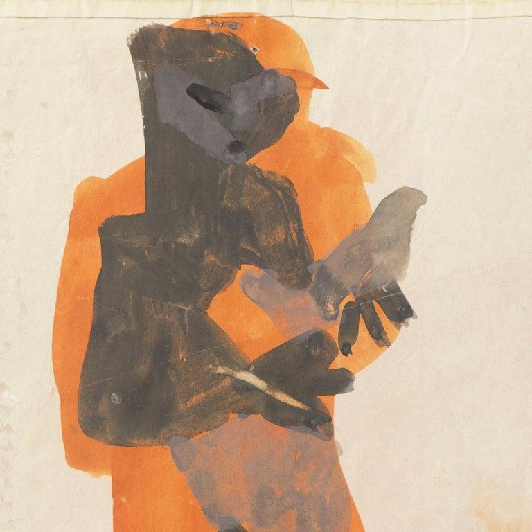 'Figure with Dove, Ochre and Gray', Louvre, Paris, California, SFAA, LACMA - Post-Impressionist Art by Victor Di Gesu