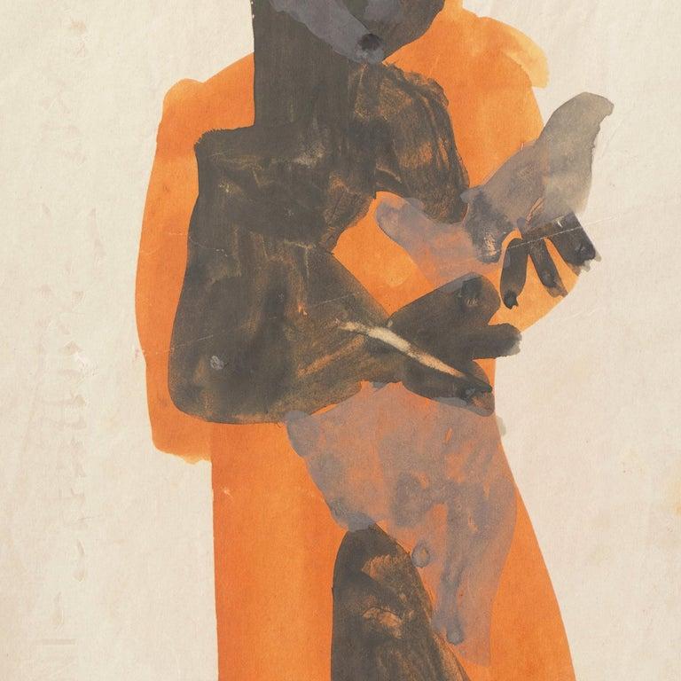 'Figure with Dove, Ochre and Gray', Louvre, Paris, California, SFAA, LACMA For Sale 1