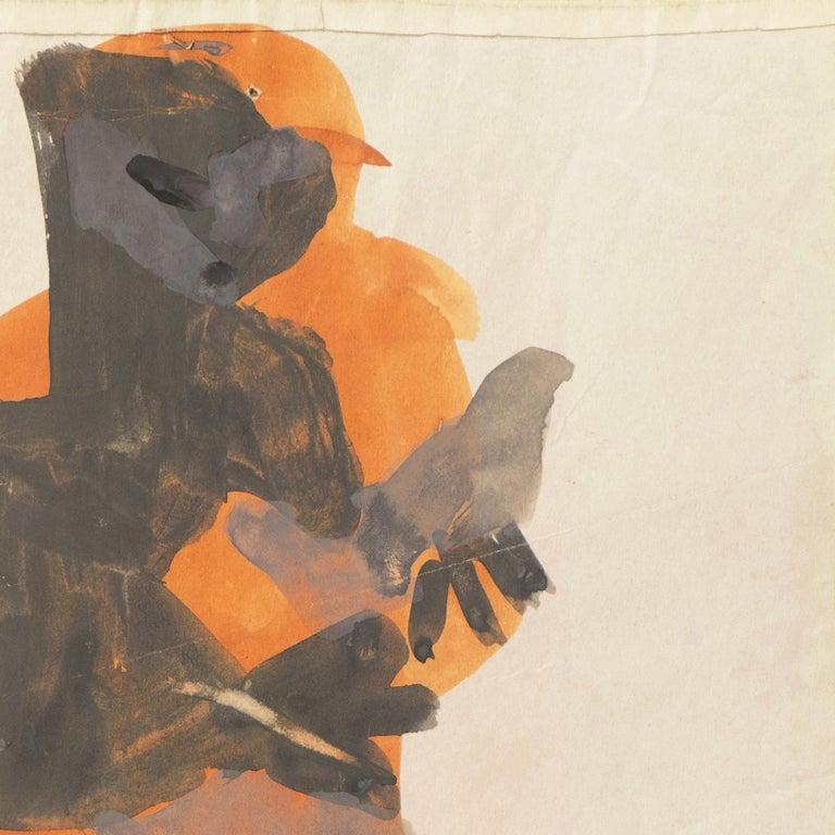 'Figure with Dove, Ochre and Gray', Louvre, Paris, California, SFAA, LACMA For Sale 2