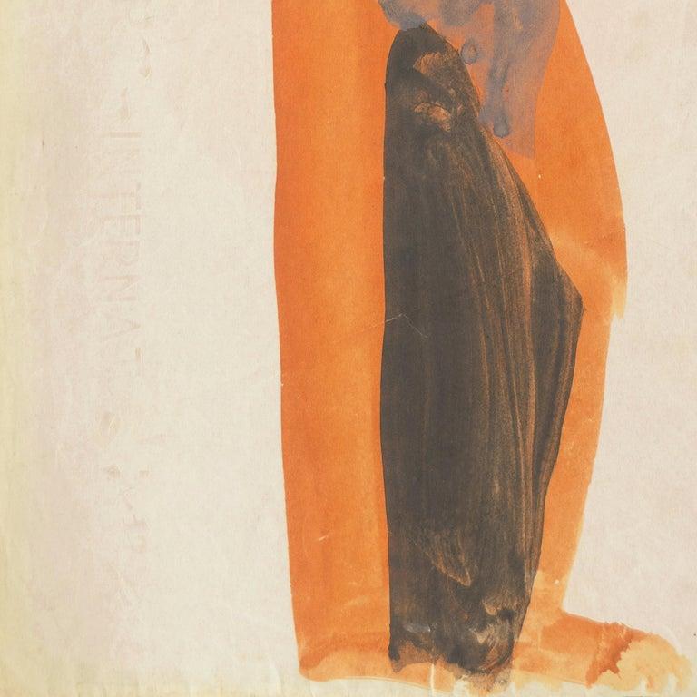 'Figure with Dove, Ochre and Gray', Louvre, Paris, California, SFAA, LACMA For Sale 3