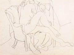 'Seated Nude', Louvre, Academie Chaumiere, Paris, Carmel, California, SFAA LACMA