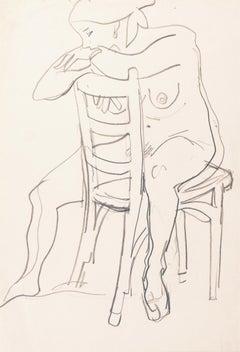 'Seated Nude', Paris, Louvre, Academie Chaumiere, Carmel, California, SFAA LACMA