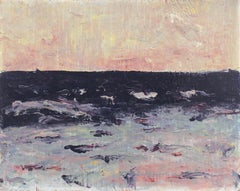 'Dawn Seascape, Lilac and Rose', American Expressionist Oil