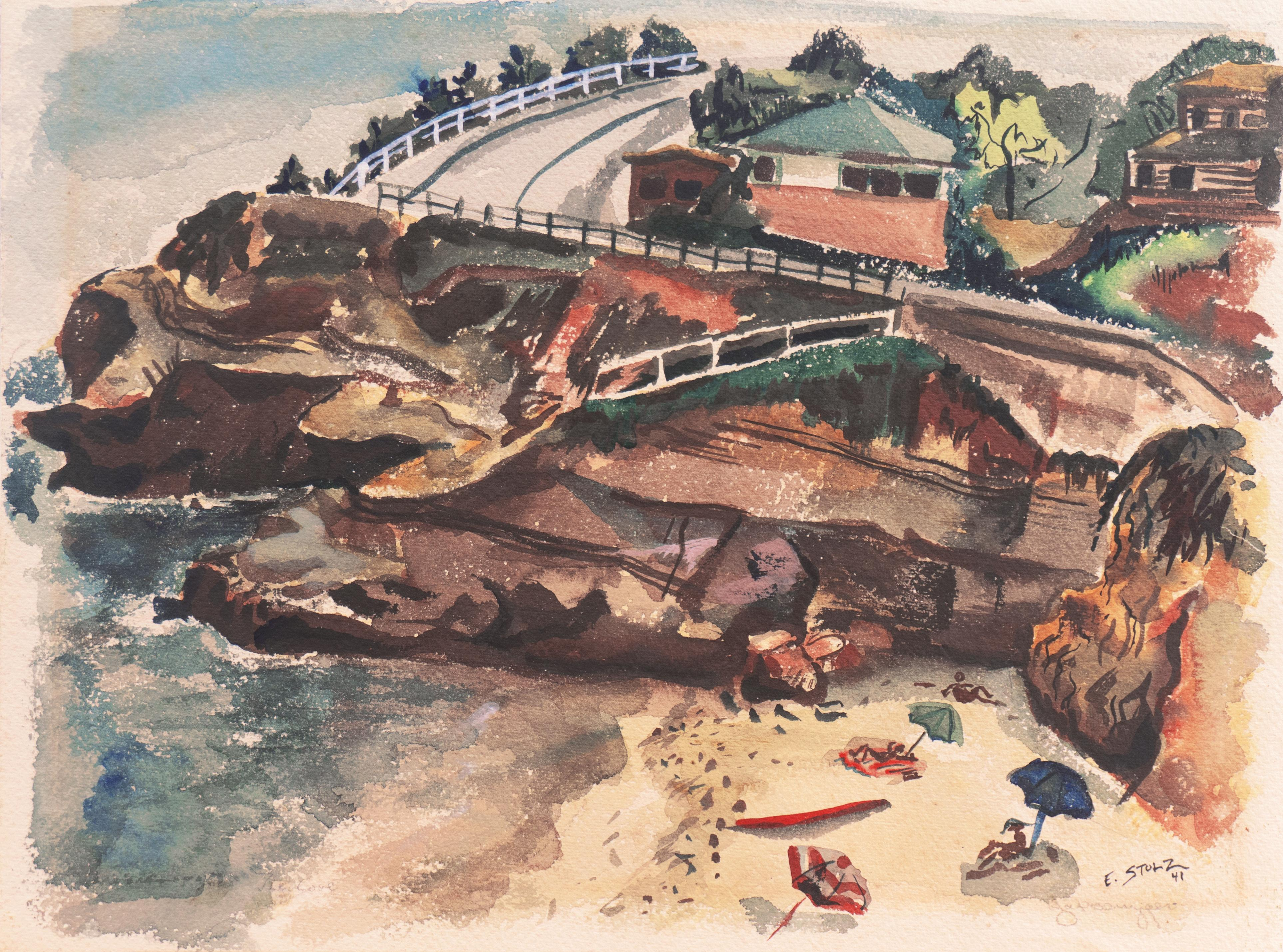 'California Beach Scene', Munich, Berkeley, CCAC, GGIE, SFAA, WPA