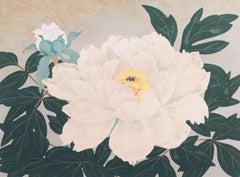 'Peony, Silver and Pearl', Tokyo Museum, Kabuki-za