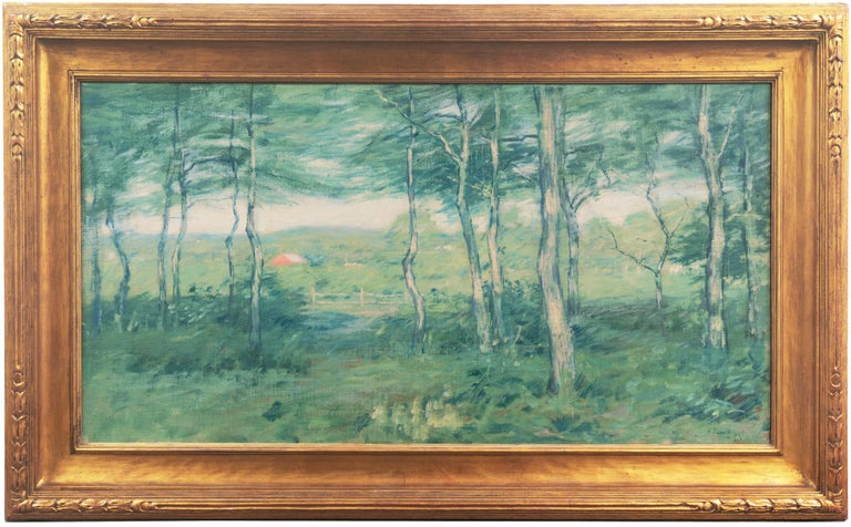 Henry Golden Dearth Landscape Painting - 'Springtime', American Barbizon, National Academy of Design, Metropolitan Museum