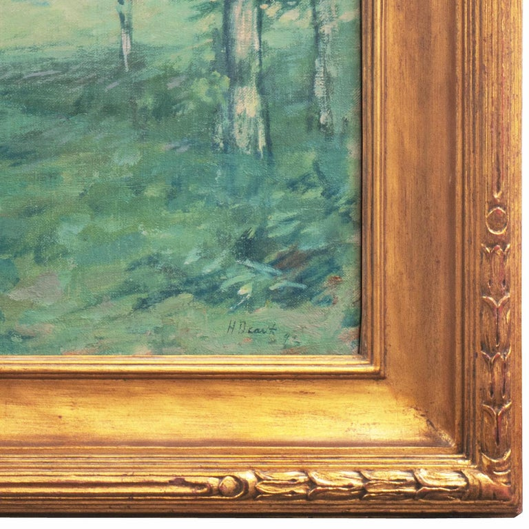 'Springtime', American Barbizon, National Academy of Design, Metropolitan Museum - American Impressionist Painting by Henry Golden Dearth