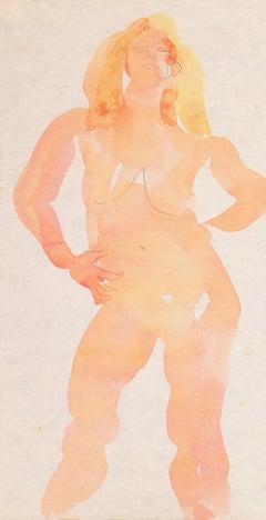 'Standing Nude', Paris, Louvre, Academie Chaumiere, Carmel, California, LACMA