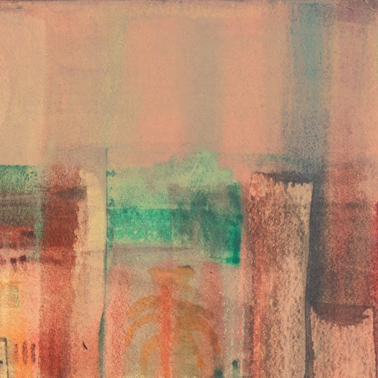 'Evening Landscape' Bay Area Abstraction, San Francisco Museum of Fine Arts, CWS For Sale 1