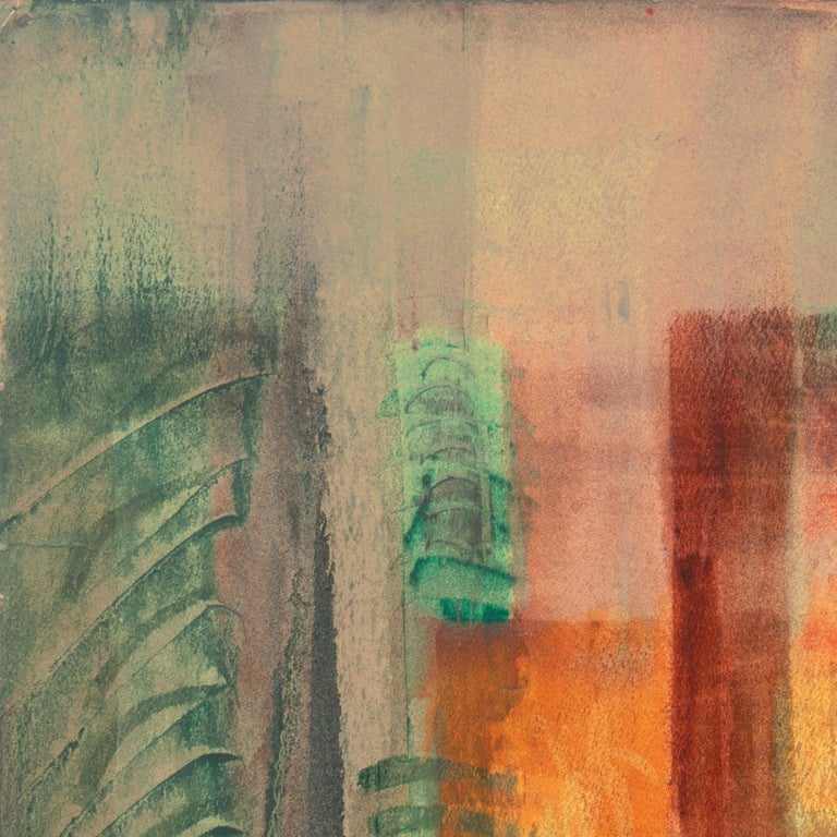 'Evening Landscape' Bay Area Abstraction, San Francisco Museum of Fine Arts, CWS For Sale 3