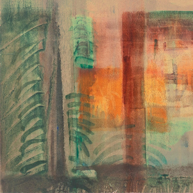 'Evening Landscape' Bay Area Abstraction, San Francisco Museum of Fine Arts, CWS For Sale 4