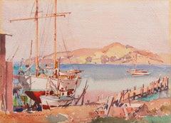'Old Sausalito', San Francisco Bay, California Exhibition Piece, CSFA, CCAC, AIC