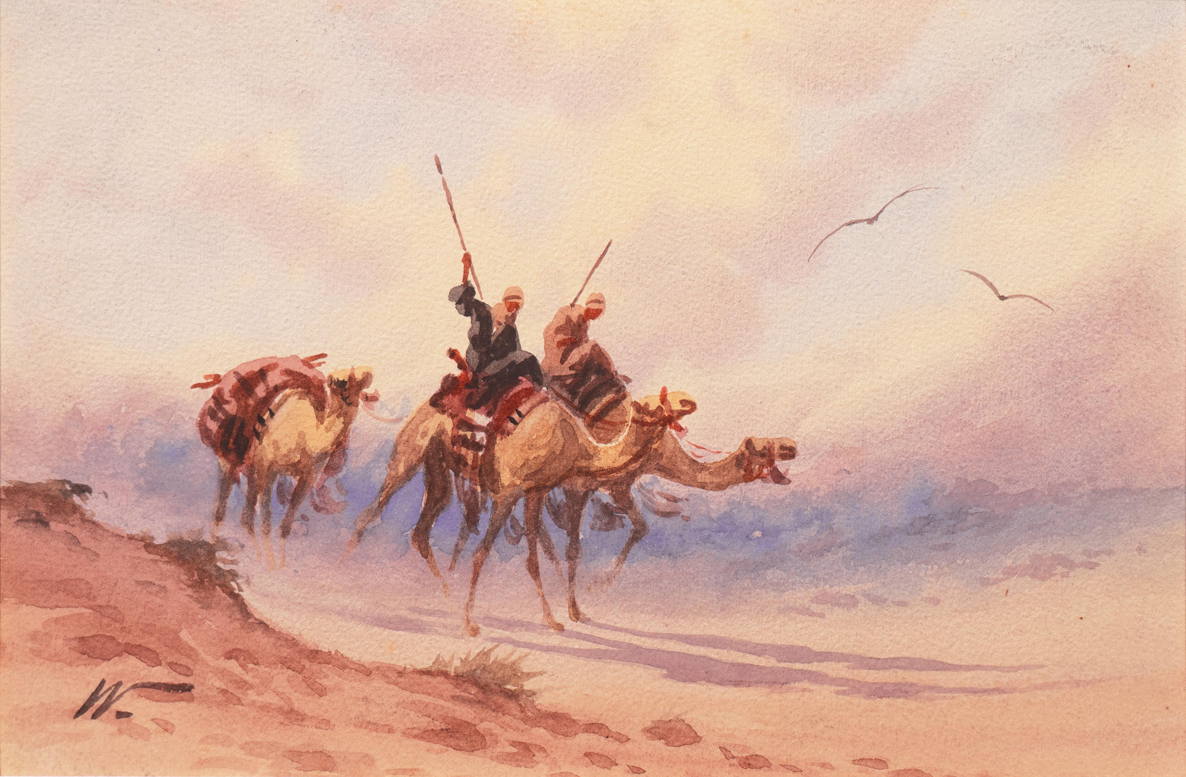 'Camels Racing', American Orientalist, Paris Salon, Ecole des Beaux-Arts, PAFA