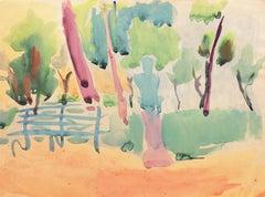 'Park Bench'  Paris, Louvre, Academie Chaumiere, Carmel, SFAA, LACMA, Chouinard