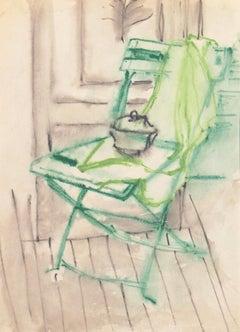 'Green Chair' Carmel, Paris, Louvre, Academie Chaumiere, SFAA, LACMA