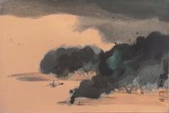 'Coastal Landscape', Mid-century Chinese-American, Modernist Woman Artist