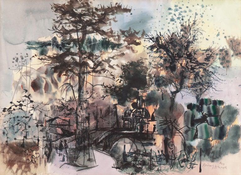 Rainey Bennett Landscape Art - 'At the Park', Metropolitan Museum, NY MOMA, AIC, ASL, Whitney Museum, Toledo