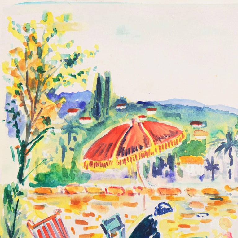 'Painting in the Garden', Academy of Fine Arts of Rouen, Mandelieu-la-Napoule For Sale 2