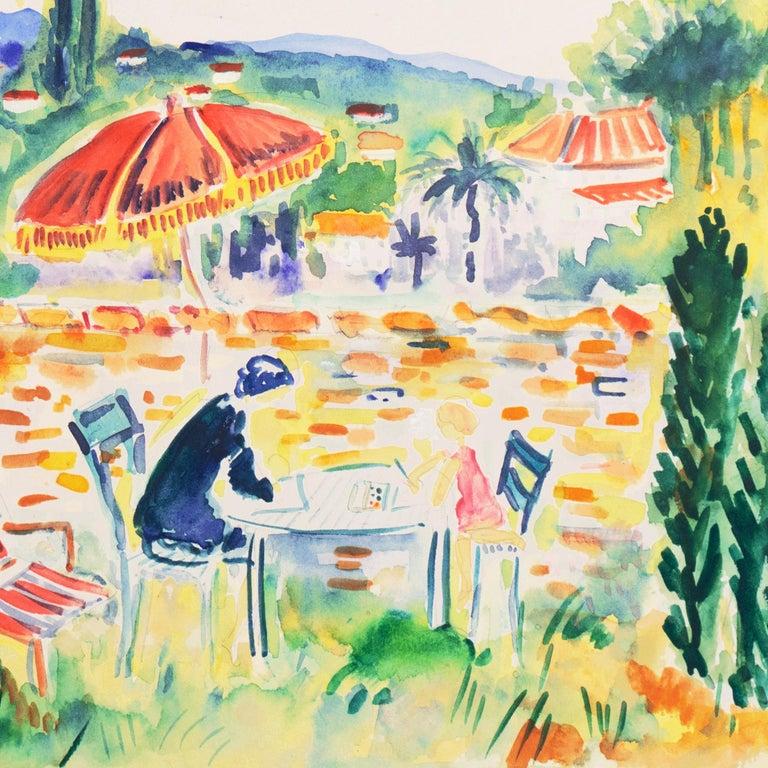 'Painting in the Garden', Academy of Fine Arts of Rouen, Mandelieu-la-Napoule For Sale 1