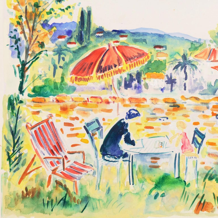 'Painting in the Garden', Academy of Fine Arts of Rouen, Mandelieu-la-Napoule For Sale 3