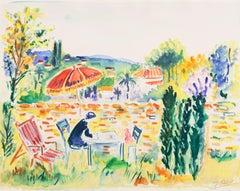 'Painting in the Garden', Academy of Fine Arts of Rouen, Mandelieu-la-Napoule
