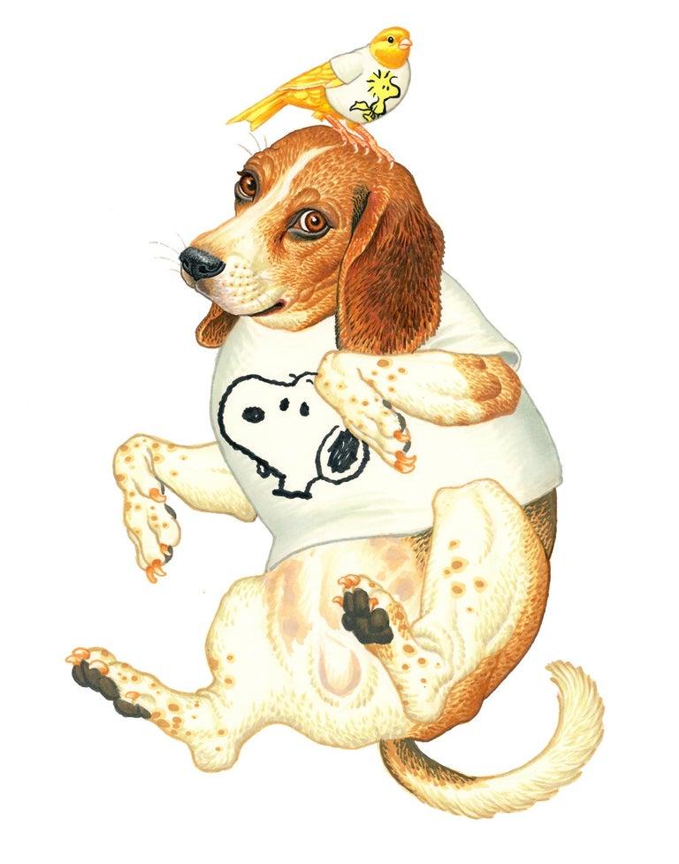 Snoopy and Woodstock - Art by Matt Buck