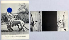 John Baldessari set of 2 vintage gallery announcements, 1989 & 1996