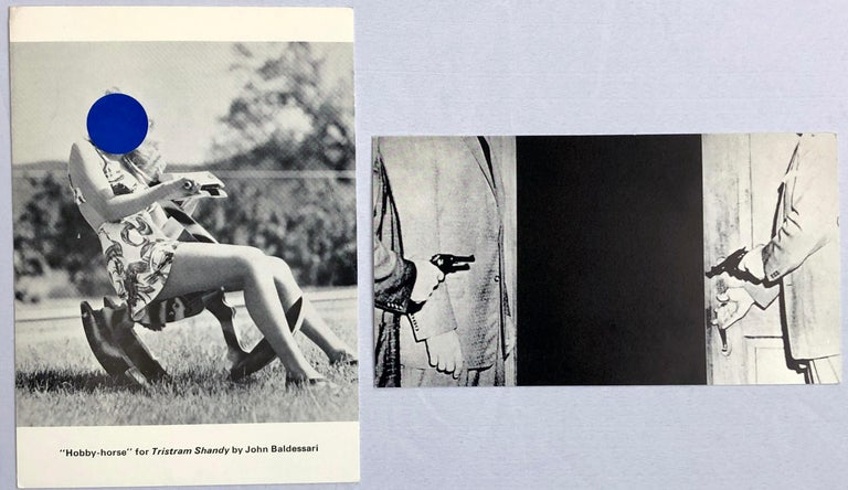 John Baldessari set of 2 vintage gallery announcements, 1989 & 1996 - Pop Art Art by (after) John Baldessari